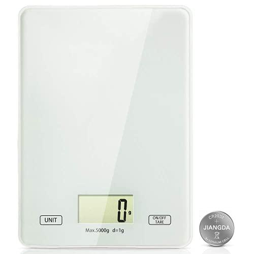 (Nuovo Modello 2.0) Bilancia da Cucina, 5kg/1g Bilancia Cucina di Precisione Professionale Digitale - Alta Precisione Misurazione Display LED Multifunzione da Cucina 1 Pezzo