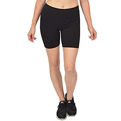 Stretch is Comfort Girl's Cotton Bike Shorts Black X-Large