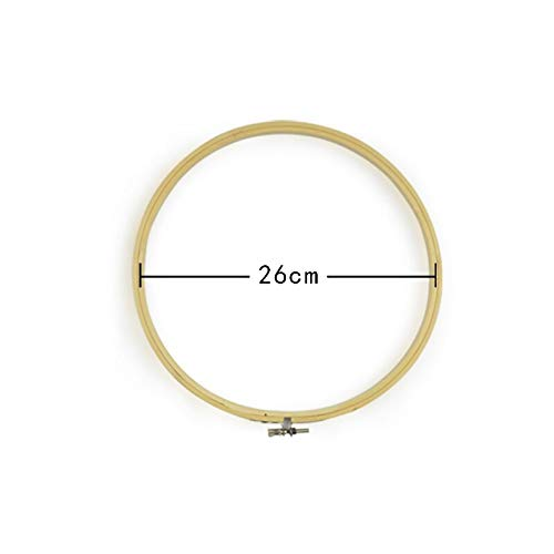 NOEL Sewing Tools & Accessory - 13-26cm Wooden Frame Hoop Circle Embroidery Round Machine Bamboo for Cross Stitch Hand DIY Household Craft Sewing needwork Tool - by 1 PCs