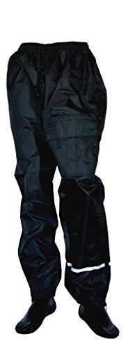 KED SOAR Motorradhose, Thunder Schwarz, Größe XS, Regenhose mit leichtem Netz-Innenfutter