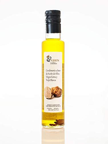 Aceite a la Trufa Blanca 250ml. - Queen of Truffles - Condimento a base de Aceite de Oliva Virgen Extra