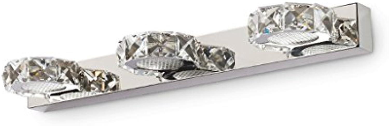 Spiegelleuchten Kristallspiegel Frontlampe Badezimmerspiegel Lampe LED Wandleuchte Edelstahl Spiegelleuchten (Farbe   Wei-46cm)