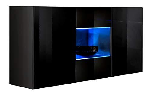 muebles bonitos – Aparador Colgante de diseño Varedo Negro 120cm
