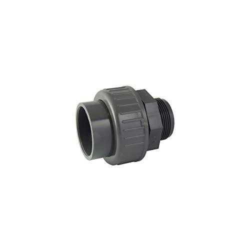 codital - Raccord Union 3 pièces Femelle/Male en PVC - Ø A: 40mm | Ø B: 1''1/4