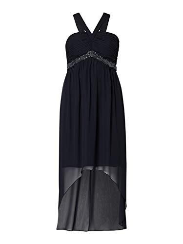 Jake*s Damen Kleid Cocktailkleid Vokuhila Perlen Marineblau