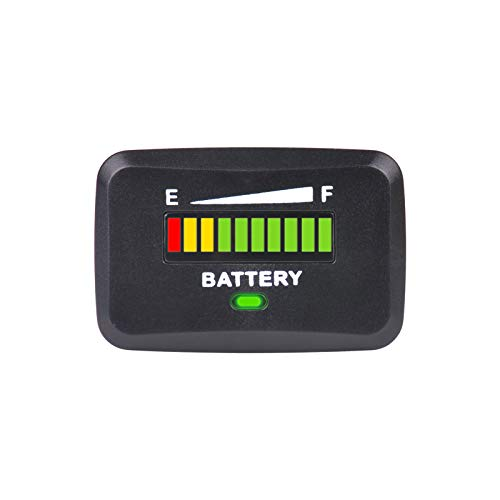 %58 OFF! Runleader 12V to 24V LED Battery Capacity Meter,Battery Level Meter,Monitor of Battery Char...