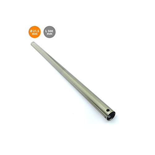 Barra metal 50cm cuero para extensión de ventilador de techo