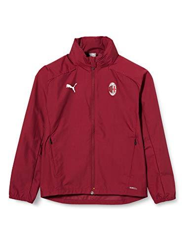 PUMA Stagione 20/21 AC Milan Training Jr, Giacca Impermeabile Unisex-Adulto, Cordovan Black, 176