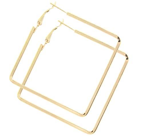 2LIVEfor Hoops Ohrringe Creolen quadratisch Silber Gold Breit Ohrhänger Hoop Ohrringe Groß Reifen Creolen Eckig hoops Earrings creolen rechteckig creolen viereckig Glitzer (Gold)