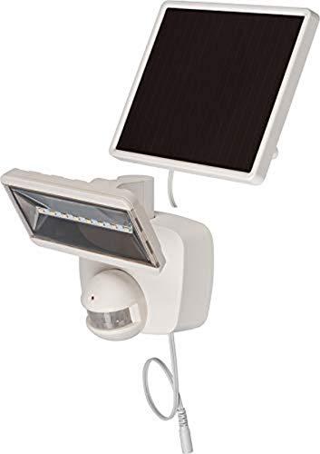 Brennenstuhl Solar LED-Strahler SOL 800 / LED-Strahler für außen mit Bewegungsmelder und Solar-Panel (IP44, inkl. Akku, hochwertige Marken LED´s, 400lm) weiß