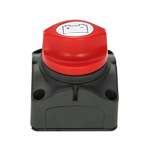 FangFang 12V 24V 48V SELECTOR DE BATERÍA DE BATERÍA Aislador Desconecte el Interruptor Giratorio ON/Apagado Accesorios de automóvil Barco de RV con Tres Placas extraíbles (Color : As Shown)