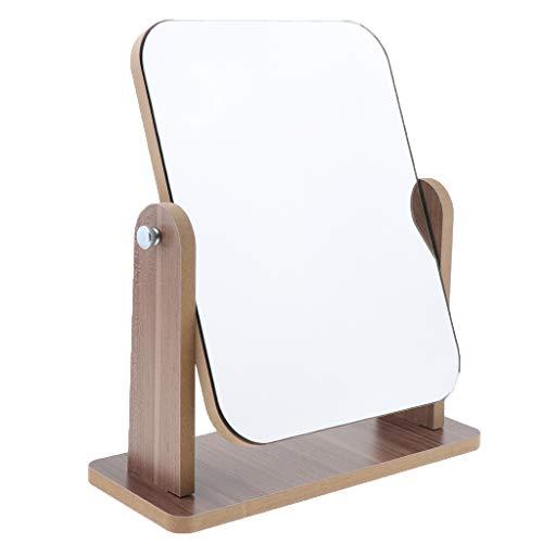 IPOTCH Miroir de Vanité de Maquillage pivotant à 360° Miroir Pliable Support De Table Miroir Cosmétique avec Peigne - Grand