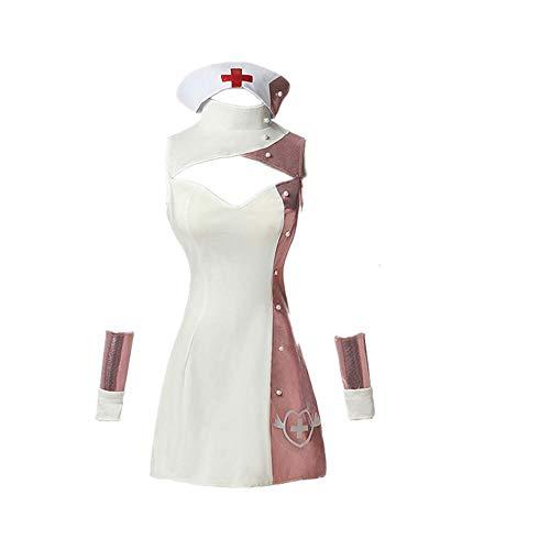 6PCS Juego Fate/Grand Order Shuten Douji Cosplay Disfraz Halloween Carnival Nurse Uniform Skirt Comic Dress Trajes con Accesorios Mujeres Sexy Gift