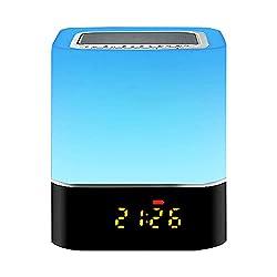 Couleurs vives et réglables : le haut-parleur Bluetooth peut être une veilleuse avec contrôle tactile, un haut-parleur Bluetooth, un lecteur MP3, un réveil numérique et une veilleuse réglable. 7 couleurs en option, la lumière change de couleur selon ...