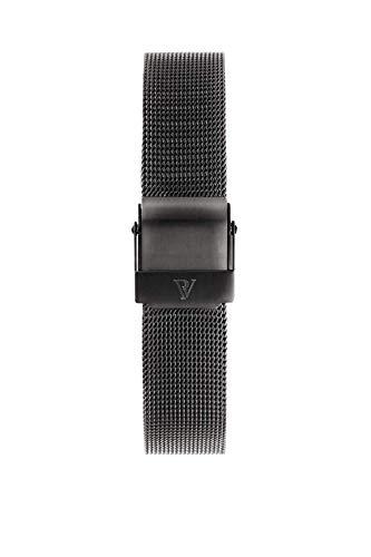 PAUL VALENTINE ® Uhren-Armbänder für Deine individuelle Uhr - In vielen Damenuhr (Graphite Mesh Stra