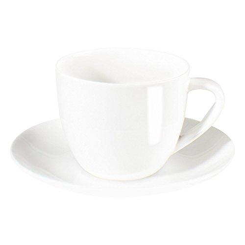 ASA Selection à Table Cappuccino Tasse mit Untere/Untertasse, Fine Bone China, Warmes Weiß, 250 ml, 1929013
