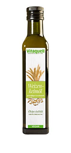 Vitaquell Weizenkeim-Öl 1. Pressung, 250 ml reich an Vitamin E lecker in Joghurt oder Müsli