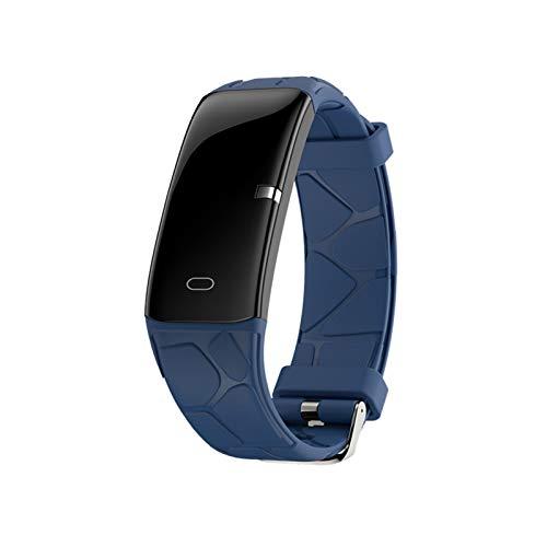 YDL Hombres Smart Watch IP67 Presión Arterial Medición Pedómetro Smart Banda Impermeable Mujer SmartWatch Fitness Pista (Color : Only Blue Watch)