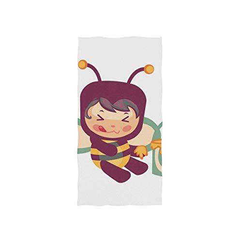 WTZYXS Honing Bijen Eten uit de emmer Handdoeken Washandjes Baby Peuter Kids Jongens Meisjes Vrouwen Man voor Thuis Keuken Badkamer Spa Gym Zwem Hotel Gebruik 12