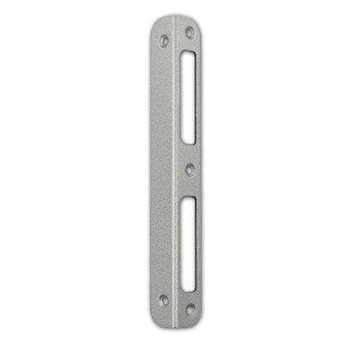 M4TEC ZB9 Gâche d'angle en acier laqué argent métallique - Robuste, durable & facile à installer - DIN R/L - Convient aux serrures de porte intérieure simple tour & double tour de WC/Salle de bain