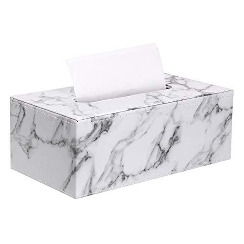 Sumnacon Stylish PU Leather Tissue Box Holder, Rectangular Napkin Holder Pumping Paper Case...