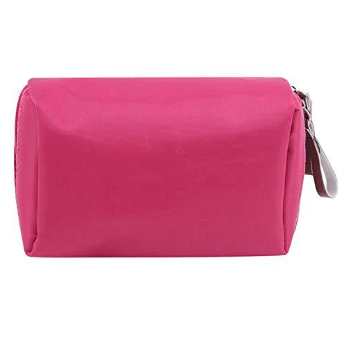 Solide Cosmétique Sac Femmes Maquillage Sac Style Pochette Trousse De Toilette Étanche Organisateur Case14 * 5 * 10 cm-Rose_Red_14 * 5 * 10 cm