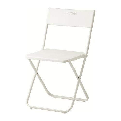 IKEA FEJAN Klappstuhl für den Außenbereich, Weiß