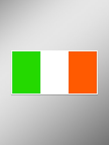 CMI NI880 Irish Flag Decal Sticker | 5-Inches by 2.8-Inches | Premium Quality Vinyl Decal