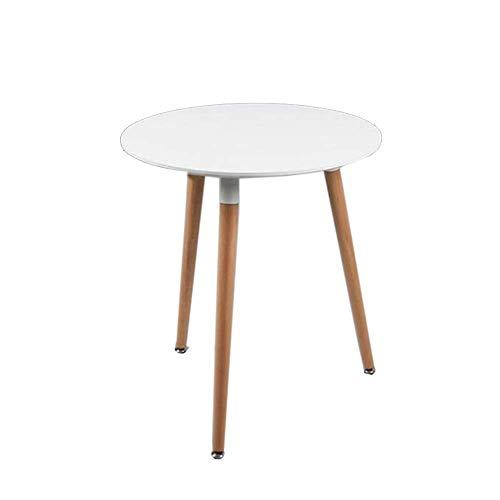 Table de lit, Table à Manger en Bois Massif, Table carrée Table Ronde pour discuter de la Table Basse, 2 Couleurs pour Le Salon Couleur: Noir, Taille: 23.6223.6229.13in