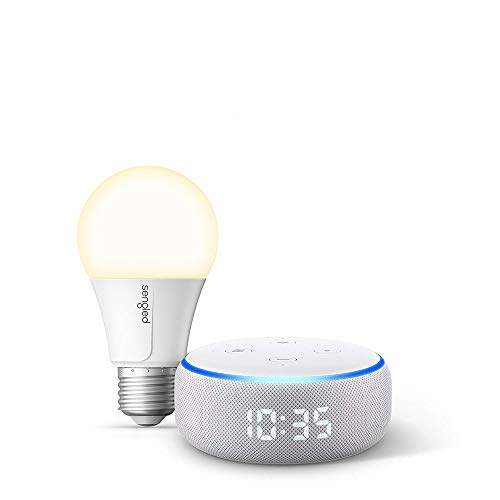 Echo Dot with Clock Bundle with Sengled Wi-Fi Smart Bulb Now $59.99