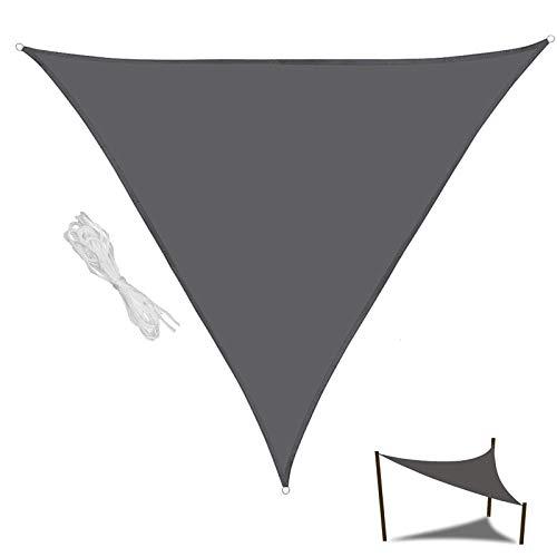 XYNH Terrazas Playa Toldos Exterior, Toldos Impermeables con Ojales, Toldo Vela Triangular, Toldos para Terrazas/Pergolas/Jardin, Sombreado Y Prevención Rayos UV 98%, Piscina Toldos Parasol