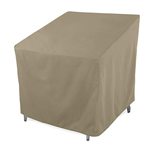 SunPatio Outdoor Club Chair Cover, Water Resistant, Lightweight, Helpful Air Vents, All Weather Protection, 33.5' W x 37' D x 36' H, Neutral Taupe