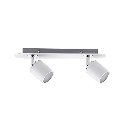 Paulmann 66718 Spotlight Tube IP44 max 2x10W GU10 Weiߟ/Chrom 230V Metall 667.18 Deckenleuchte Lampe LED Deckenlampe Deckenstrahler