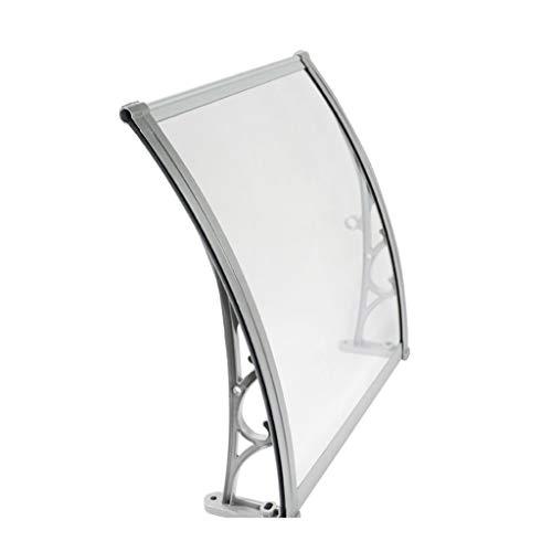 QYQPB Auvent De Porte en Alliage D'aluminium Couverture Extérieure,Porte Fenêtre Jardin Canopy Patio,Abri De Pluie Auvent De Porche,Y Compris Le Support, PC Solid Board, des Vis (Size : 60 * 80cm)