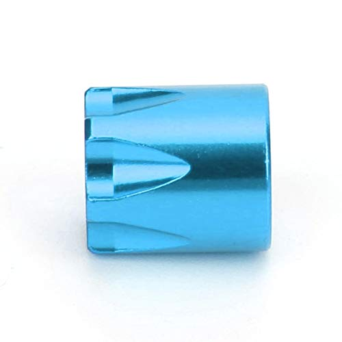 Tomantery RC Wheel Rim Center Cap Accesorio de Rueda RC 4 Piezas de aleación de Aluminio Resistente para Coche RC(Blue)