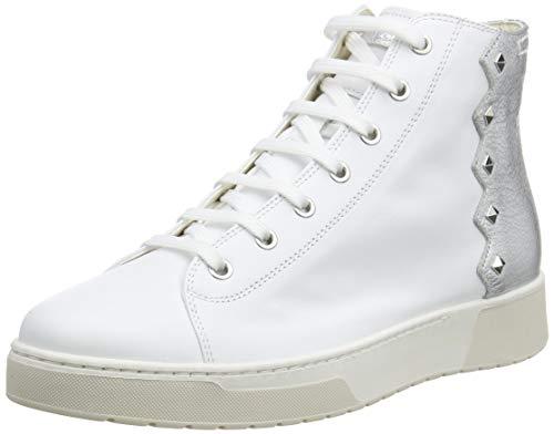 Geox D KAPHA B, Zapatillas Mujer, Blanco y Plateado, 38 EU
