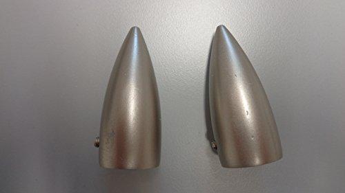 Gardinia Endstück Memphis Patrone Silber-matt Ø 16 mm 2er-Pack