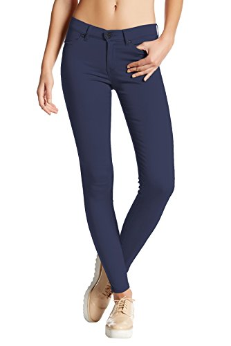 Hybrid & Company Womens Super Stretch Comfy Skinny Pants P44876SK Navy Medium