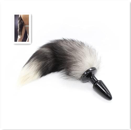 wangxiaoyunFaux Leather Eco-Friendly Fox TailAccesorios para el cabello de animales Séxy Bǒn'dāge Slíng Anâl Plụg Combo Set