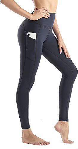 Wirezoll Sport Damen Leggings, Lange Blickdicht Yoga Hose Sporthose Fitnesshose mit Taschen (7/8 Leggings schwarz, 32-34)