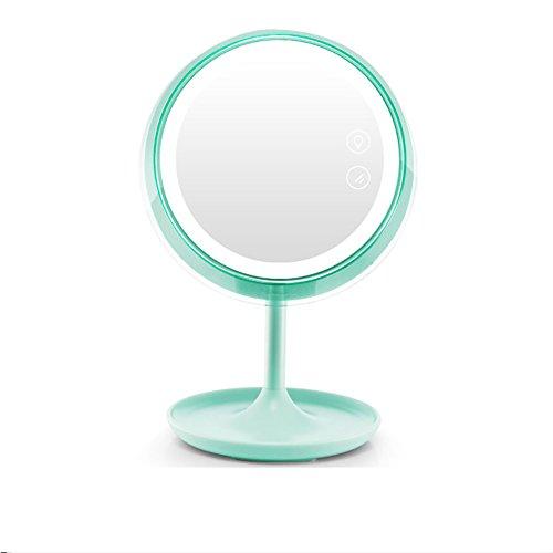 RSWLY Espejo de maquillaje LED, luz de relleno frontal despedida de la trampa de luz para presentar un aspecto hermoso, simple y elegante recargable en dos colores disponibles. (Color: A)
