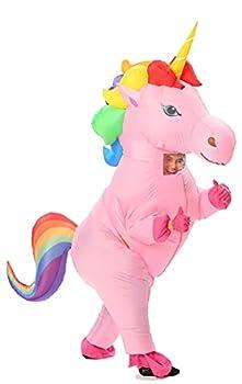 GOPRIME Adult Size Inflatable Rainbow Unicorn Costume Halloween Costume  Rainbow Large