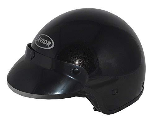 Soar LEVIOR Motorradhelm Sprint Jethelm, Schwarz, Größe XS (55 cm), Sehr geräuscharm und integriertes Sonnenvisier!!!