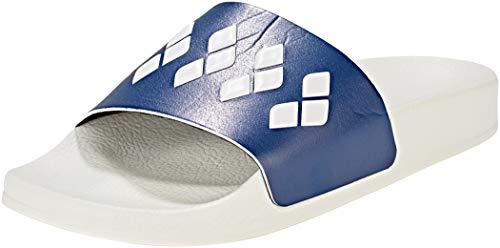 ARENA Team Stripe Slide Sandals White-Navy-White Schuhgröße EU 44 2018 Badeschuhe