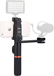 Viewflex Smartphone Video Kit VF-H4 Bluetooth Handle Grip with Tripod Mount Adapter for iPhone X max 7 8,Samsung Huawei Phone Rig for Volgging/Facebook Live/YouTube(Without Light and Microphone)