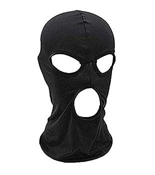 Balaclava Face Mask,Women Men Thin Three Holes Full Face Mask For Motorcycle Bike Hunting Cycling Cap Ski  Black