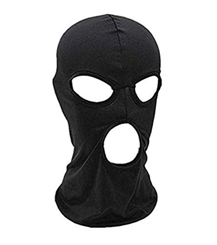 WYSUMMER Pasamontañas máscara facial, para mujeres y hombres, máscara delgada de cara completa para motocicleta, bicicleta, caza, ciclismo, gorra de esquí - negro -