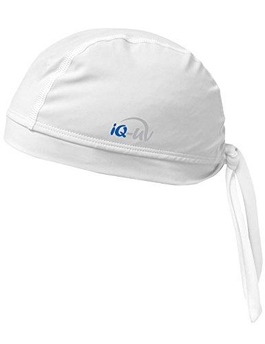 iQ-UV 300 Bandana, UV-Schutz Kopftuch, White, XL (61cm)