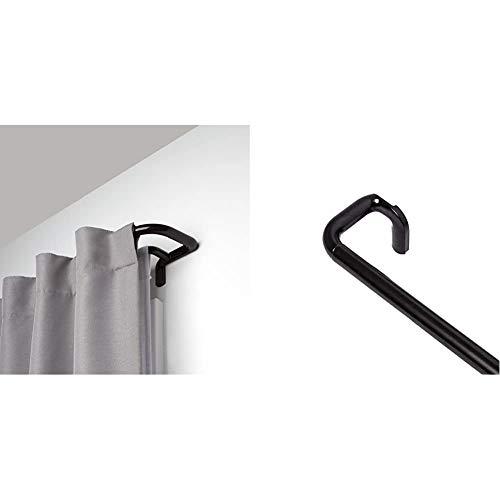 Umbra Twilight Double Curtain Rod Set – Wrap Around Design, 88-144, Bronze & Twilight Single Curtain Rod Set – Wrap Around Design is Ideal for Blackout or Room Darkening Panels, 88-144, Bronze