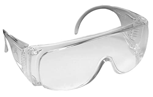 Industrial Safety Eyewear Clear Spectacles Over Glasses Goggles Safety Eyewear, Transparent